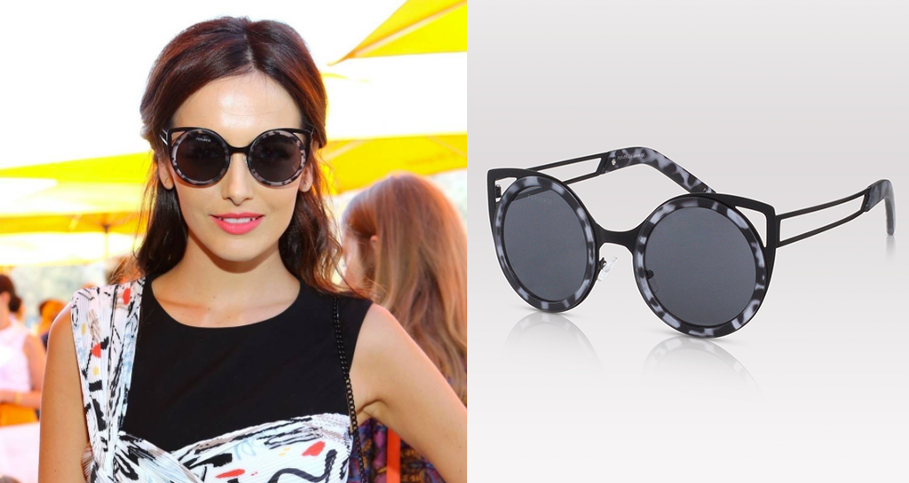 Camilla Belle sunglasses PERVERSE sunglasses Camilla Belle was caught looking fierce in PERVERSE sunglasses at the Veuve Clicquot Polo Classic in Los Angeles.