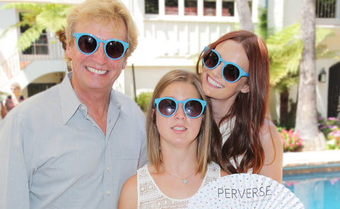Lydia Hearst and Nigel Lythgoe and Lucy Meyer at PERVERSE sunglasses icon GIRL launch party