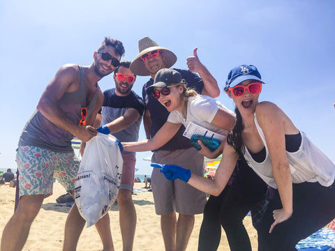 PERVERSE sunglasses Heal the Bay Beach Cleanup Santa Monica Beach