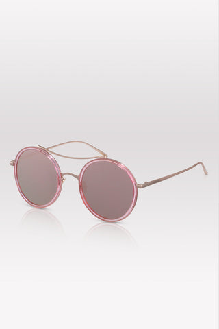 PERVERSE sunglasses X-Ray 01-Vision Round mirror rose gold sunglasses