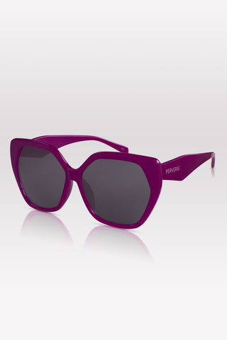 Phoenix Oversize Square sunglasses in 03-Magenta by PERVERSE sunglasses