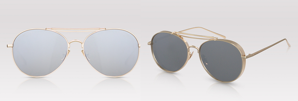 Solid Gold aviator sunglasses oversize sunglasses for fall PERVERSE Sunglasses