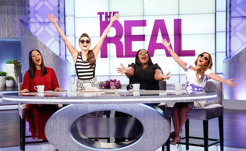 The Real Season 3 premiere PERVERSE Sunglasses giveaway Tamra Mowry Loni Love Jeannie Mai Adrienne Bailon