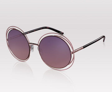 PERVERSE sunglasses that match your Labor Day Destination Twiggy oversize vintage round rose gold sunglasses