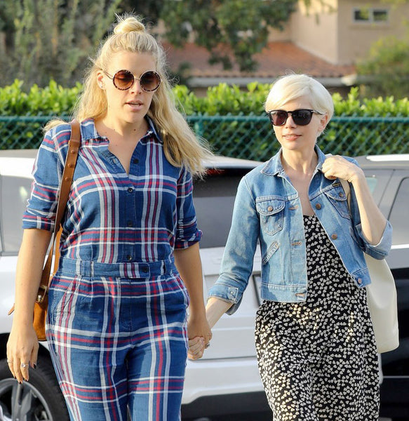 Busy Phillips and Michelle Williams shop at Madewell PERVERSE sunglasses
