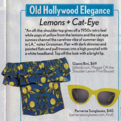 911a44bd104 Life   Style s June issue featured PERVERSE sunglasses as the perfect  accessory to make a statement with sophistication this summer.