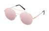01-GoldenCherry: Round aviator in rose gold metal frame with rose gold mirror lens.  Polarized. UV400.