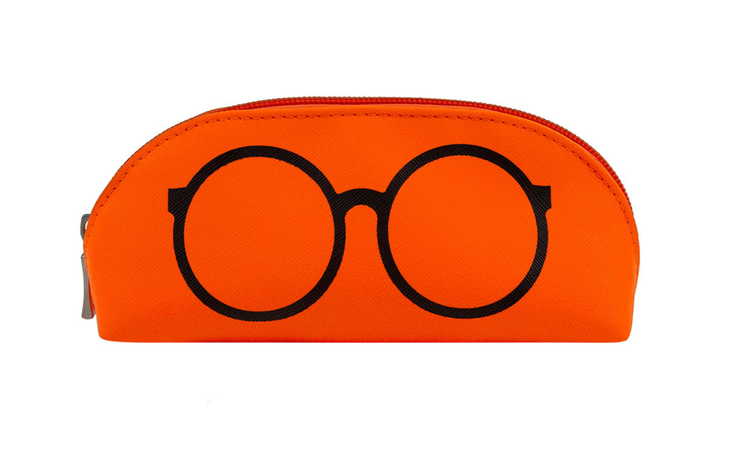 02-Neon Orange: Highlighter orange w/black sunglasses design.