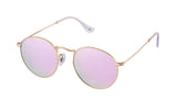 01-Bourbon: Razor-thin gold etched frames w/ pink mirror lenses.