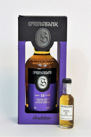 Springbank - 18 Year Old- 46.0% - 50ml Sample