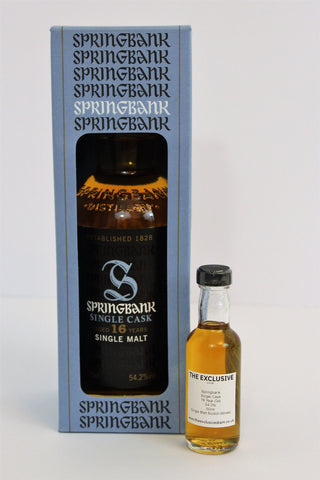 Springbank - Single Cask - 16 years old - 54.2% - 50ml Sample