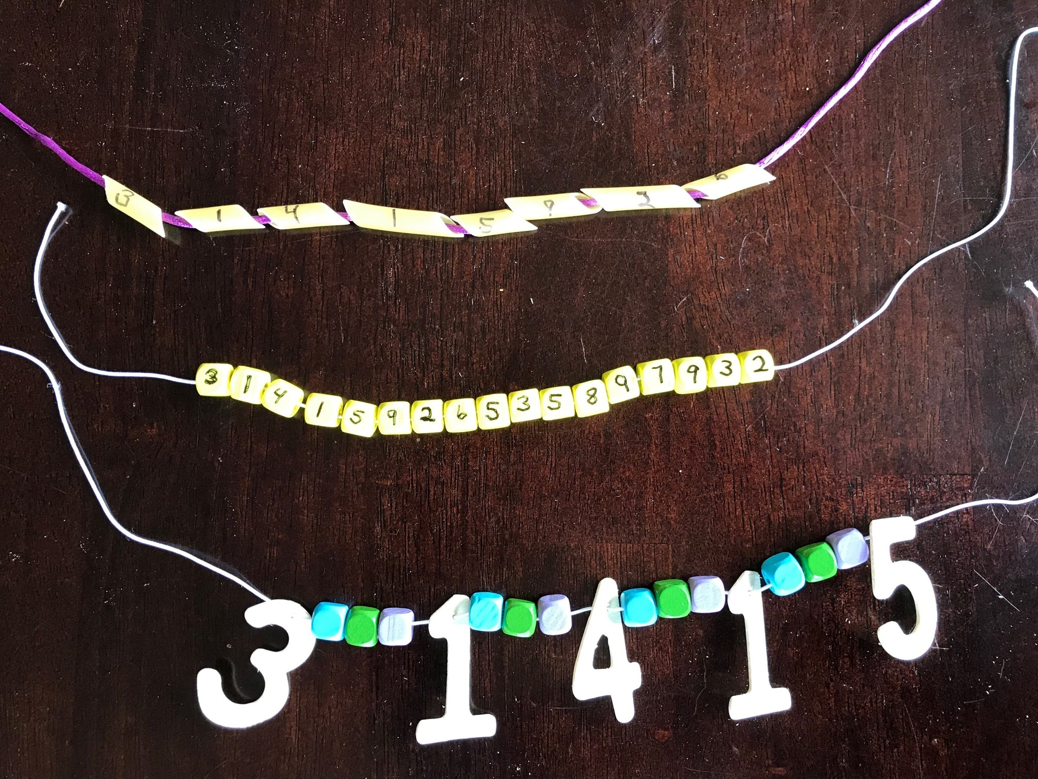 I Spy a LOT of Numbers - Make a Pi Necklace Activity