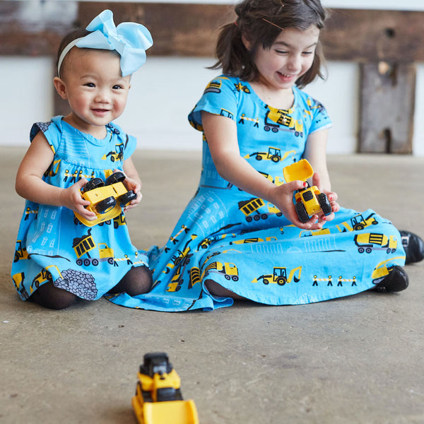 """Groundbreaker"" Construction Trucks Infant Dress"