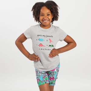 """Guess My Favorite"" Dinosaurs Youth T-Shirt"