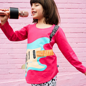 Electric Guitar Rocker Long Sleeve Tunic Shirt