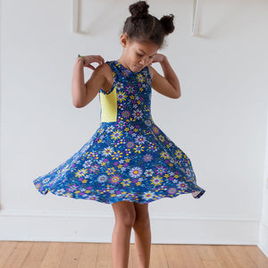"""Roots and STEMs"" Math Garden Skater Play Dress"