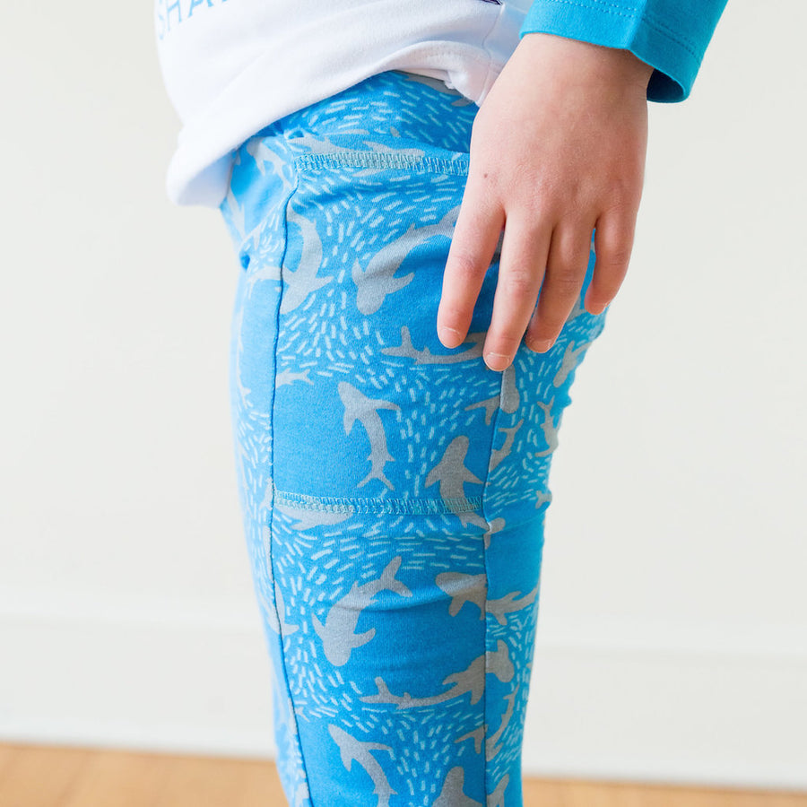 """Fiercely Jaw-some"" Shark Leggings with Pockets"