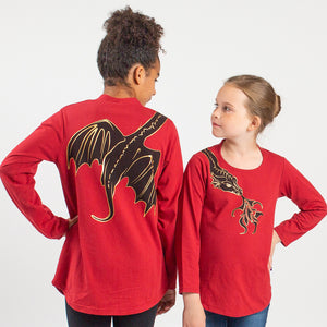 Fierce Shoulder Dragon Long Sleeve Tunic Shirt