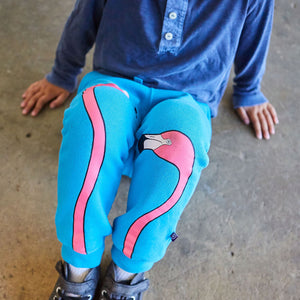 Flamingos Fuzzy Fleece Jogger Pants