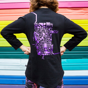 Android Heart Circuits Long Sleeve Tunic Shirt