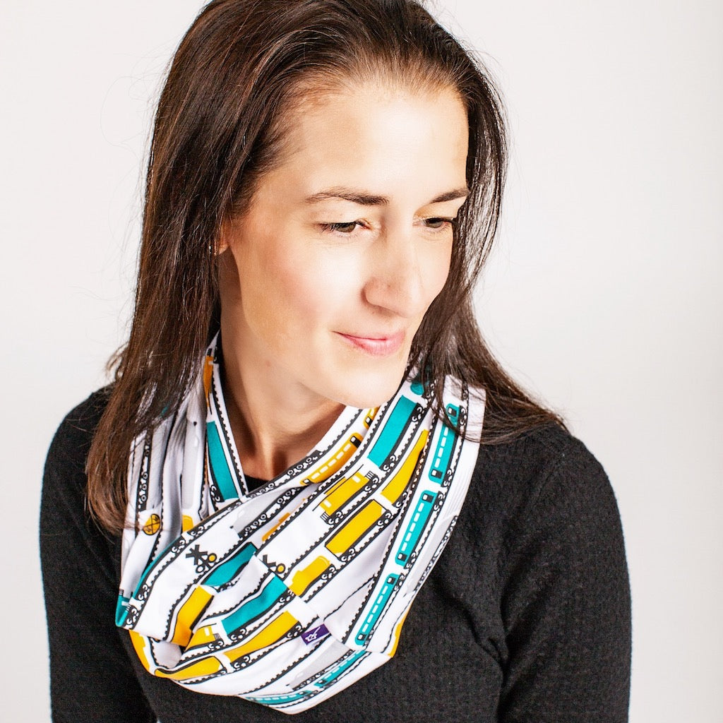 """ENGINEuity"" Trains Infinity Scarf"