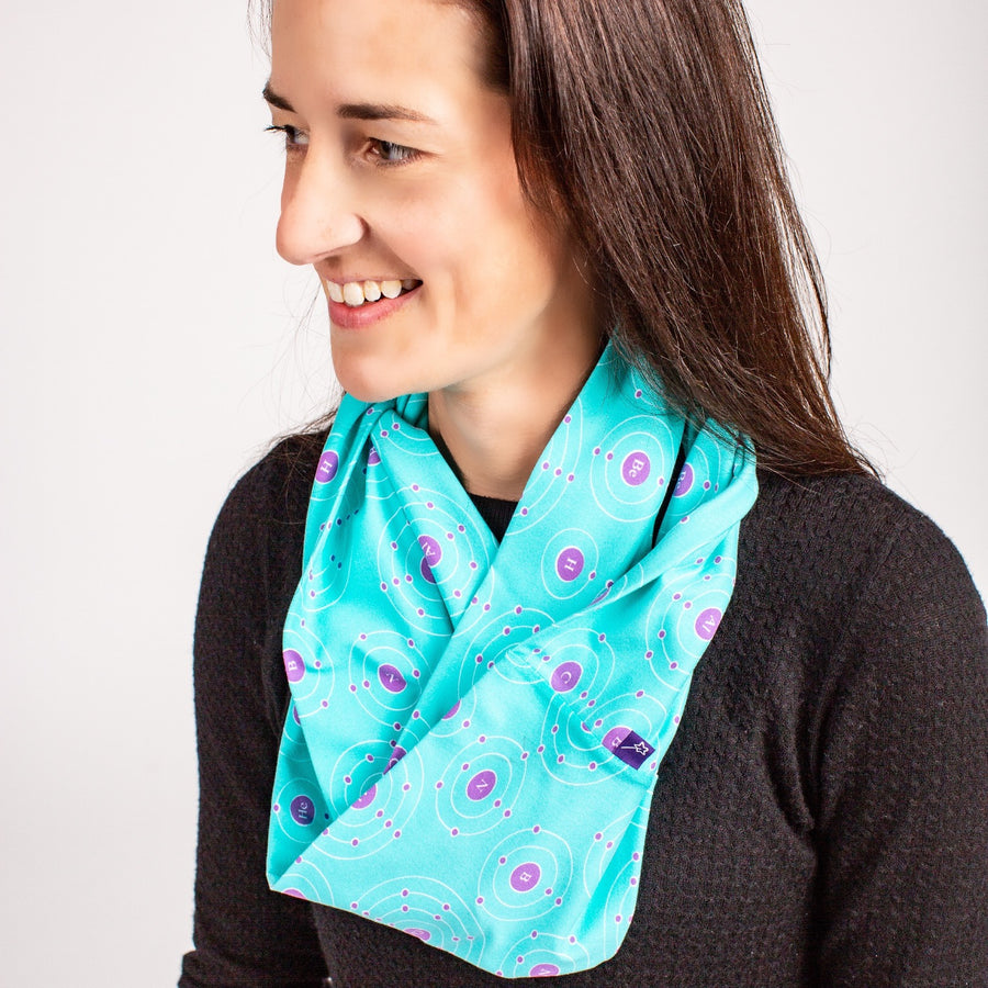 """Up and Atom"" Chemistry Infinity Scarf"