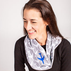 """True Blue"" Airplanes Infinity Scarf"