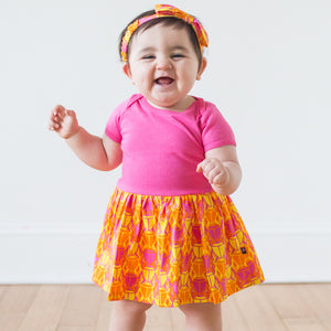 """BeetleBrite"" Bugs Infant Snapsuit Dress"