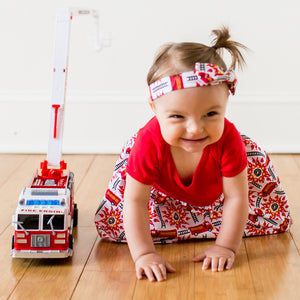 """Rescue Ready"" Fire Engine Snapsuit Dress"