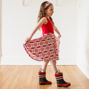 """Rescue Ready"" Fire Engine Twirly Play Dress"