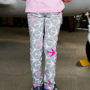 """AirHeart"" Airplanes Leggings with Pockets"