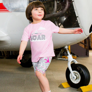 """AirHeart"" Airplanes Shorts with Pockets"