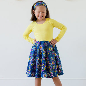 """Roots and STEMs"" Math Garden Twirly Play Dress with Long Sleeves"