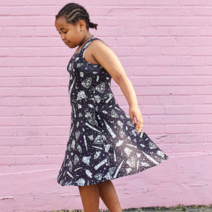 Moon Landing Knee-Length Stretchy Sleeveless Play Dress
