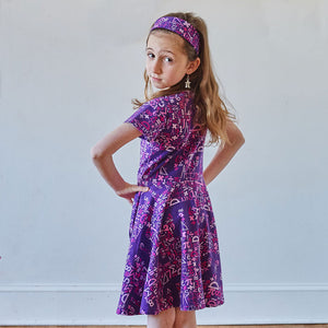 """I Spy Pi"" Math Short Sleeve Super Twirler Dress"
