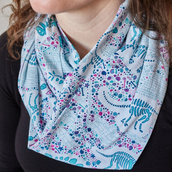 """Fossils Forever"" Dinosaurs Infinity Scarf"