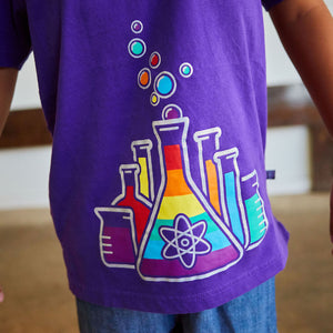 Rainbow Chemistry Science Short Sleeve Henley Shirt