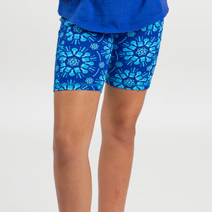 """Atomic Flurry"" Science Snowflakes Shorts with Pockets"