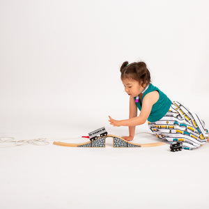 """ENGINEuity"" Trains Twirly Play Dress"