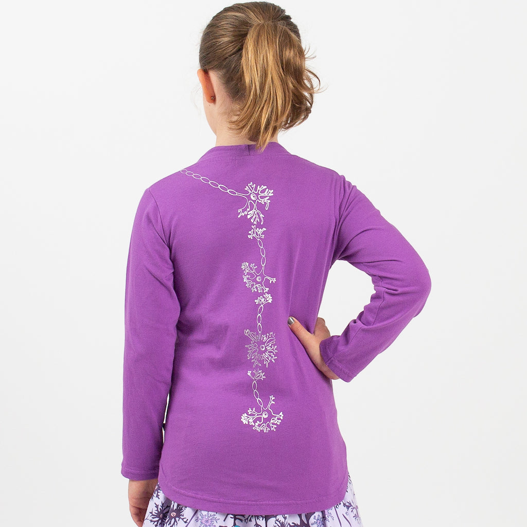 Spinal Neurons Long Sleeve Tunic Shirt Princess Awesome