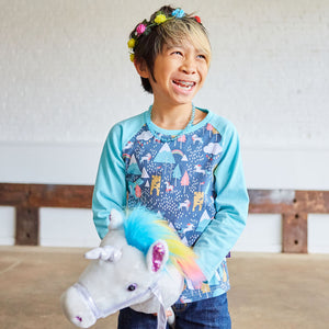 Unicorn Adventures Long Sleeve Raglan Shirt