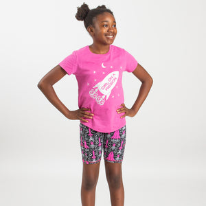 """Girl on a Mission"" Sparkly Rockets Youth T-Shirt"