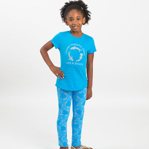 """Strong, Powerful Fierce"" Sharks Youth T-Shirt"