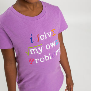 """I Solve My Own Problems"" Math Youth T-Shirt"