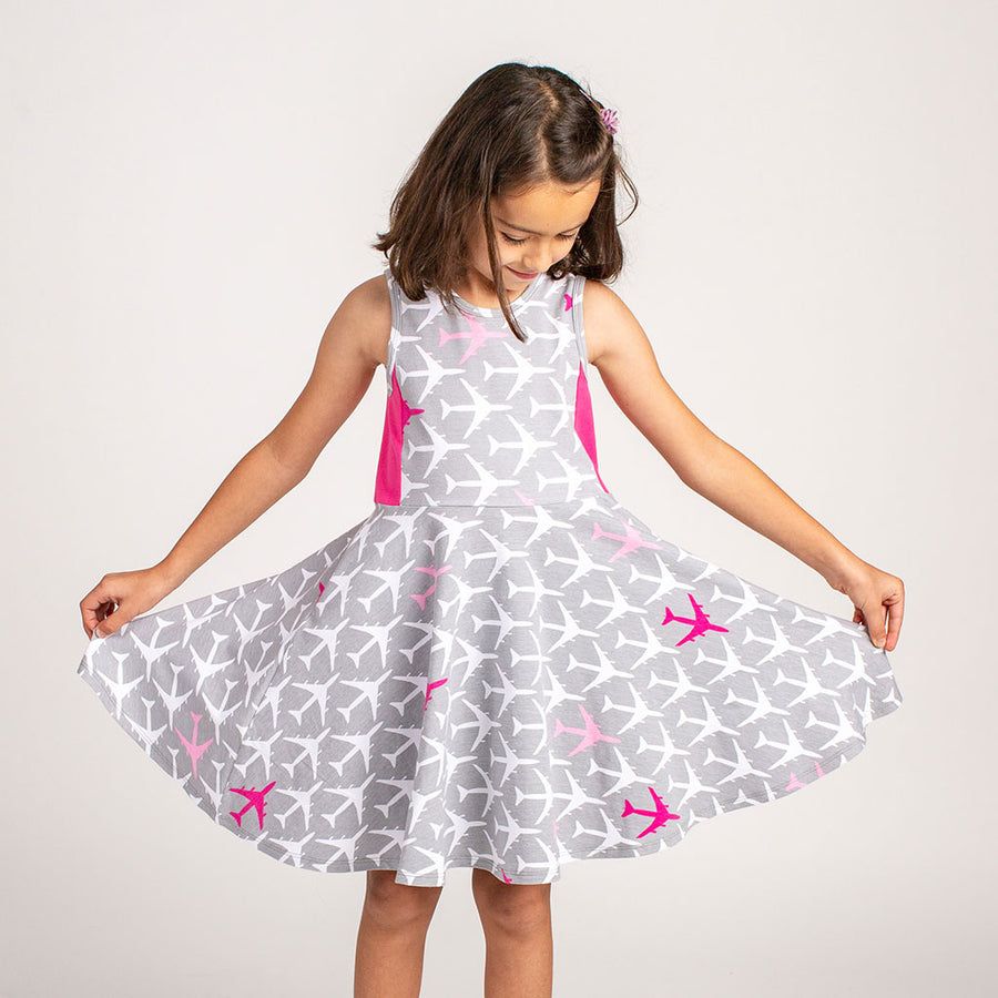 """Airheart"" Airplanes Skater Play Dress"