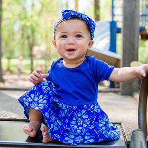 """Atomic Flurry"" Infant Snapsuit Dress"
