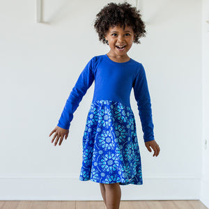 """Atomic Flurry"" Twirly Play Dress with Long Sleeves - Princess Awesome - 1"