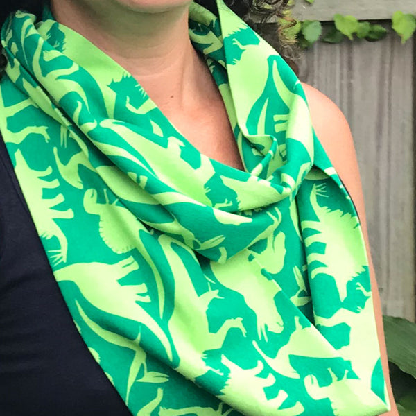"""Land Before Lime"" Dinosaurs Infinity Scarf"