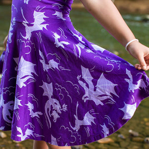 """Purple Reign"" Dragons Short Sleeve Super Twirler Play Dress"