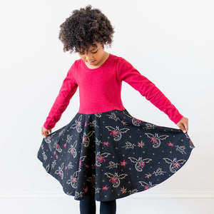 """Fire Flight"" Dragons Twirly Play Dress with Long Sleeves - Princess Awesome - 4"